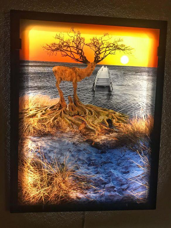 Deer tree glas